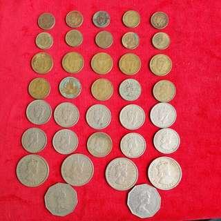 香港 英女皇 硬幣 36個