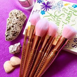 Rosegold Mermaid Brush Set