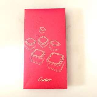 Cartier red and gold packets