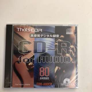 🚚 That's 太陽誘電 CD-R for Audio (A80CP 單片)