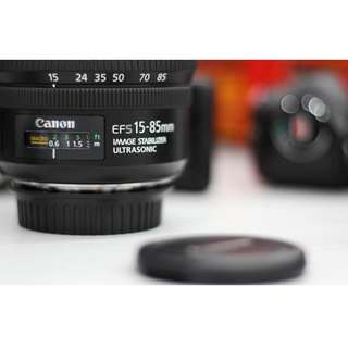 Canon EF-S 15-85mm F3.5-5.6 IS USM (includes free B+W UV filter and lens hood)