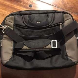 Soft Black & gray laptop shoulder bag