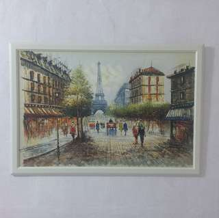 Paris Eiffel Tower oil painting Huge