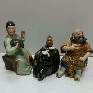 Vintage China Porcelain Statue H19cm 美二