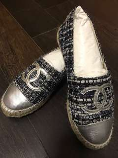Chanel Espadrilles in Navy Tweet size 37