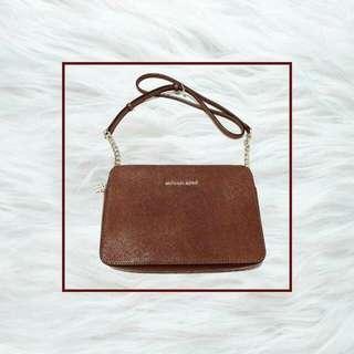 ORIGINAL MK Brown Chain Sling Bag