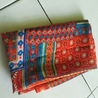 pasmina motif warna orange