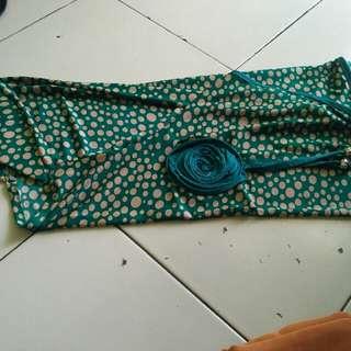 hijap instan hijau polkadot