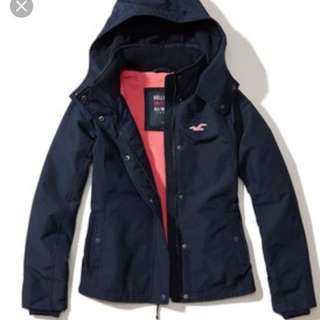 Hollister All-Weather Fleece Lined Jacket HCO A&F