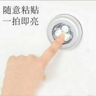 (6個/6pieces) 隨意貼貼LED燈 (白光,3A電手動操作) (家居健康系列) (包Buyup自取站取貨)