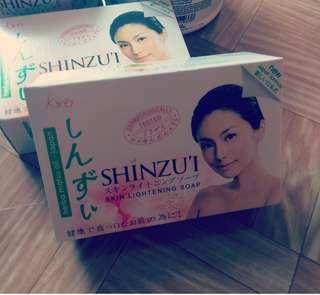 (甜櫻花味)全新Shinzui 私處去黑全身美白肥皂