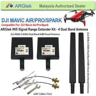 ARGtek DJI Mavic Pro/Spark WiFi Signal Range Extender Kit 4 Antenna (Dual Band)