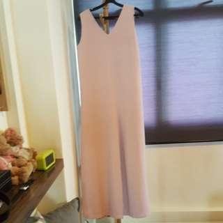 Dusty pink long jumpsuit