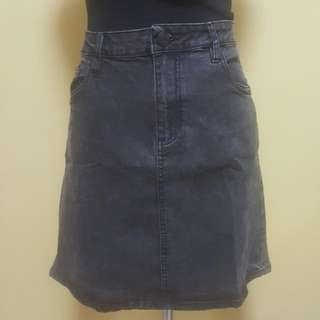 Denim Black Skirt On Sale Repriced