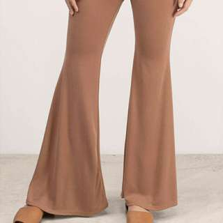 Brown bell bottoms pant