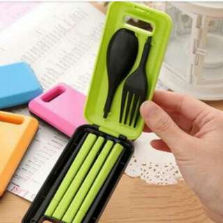 Foldable spoon, fork and chopsticks