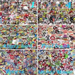 Cartoon vinyl stickers