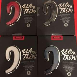 RB-T20 全新款掛耳背籃牙耳機,有四色,黑,銀,深籃,紅色四款