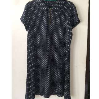 Dress Polkadot Navy