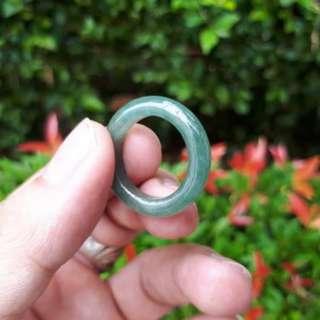 Cincin Batu Permata Giok Jadeite Jade Type A Fei Cui JDT007 Oily Green