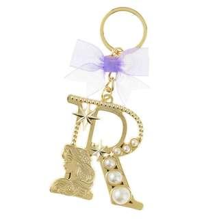 Japan Disneystore Disney Store Rapunzel Tangled Initial Pearl Keychain