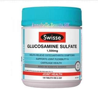 Swisse GLUCOSAMINE SULFATE 1500mg 維骨力 葡萄糖胺片 修復關節軟骨180粒 100% new & real