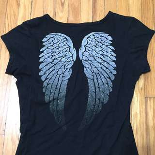 Guess Wings Black Tshirt