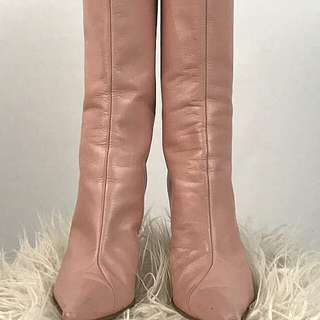 Aldo Pink Leather High Heeled Boots