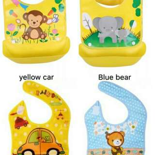 Foldable waterproof baby bibs