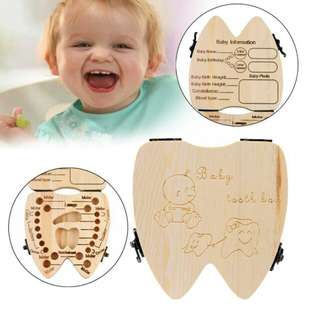 Baby Milk Teeth / Lanugo Hair Wood Storage Box