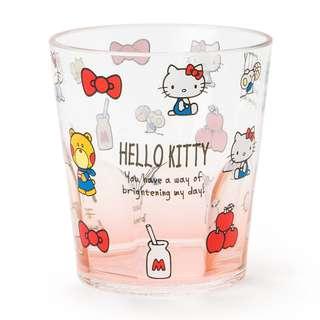 日本代購 sanrio 專門店 2018年 2月 hello kitty  透明杯