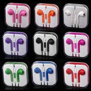 Apple Iphone Earpods Earphones Handsfree w/ Mic Colorful