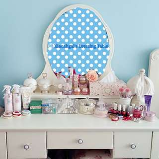**RESERVE**🔴FOR FOLLOWERS TO PURCHASE ONLY!!🔴**Those follow but unfollow, pls detour. Thks**🌟NEW🌟AUTHENTIC FRENCH EUROPE ENGLISH COUNTRY SHABBY CHIC SPRAY PAINT dresser/ dressing table (Put Jillstuart & Laduree comestics)💋No Pet No Smoker Clean Hse💋