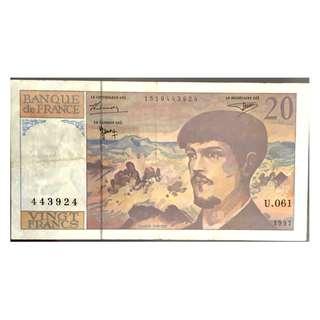 法國紙幣20法朗