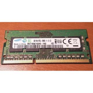 2x Samsung 2GB PC3-12800s DDR3 Laptop Memory