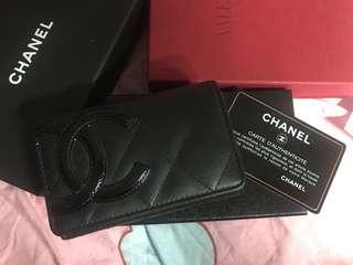 Chanel cambon 牛皮 卡片包 銀包 散子包