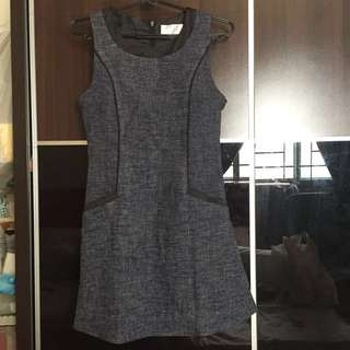 Grey Office Dress