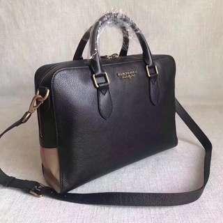 Burberry Leather Men's Briefcase Black colour