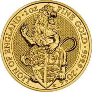 WTB Queen's Beast 1oz Gold Coin