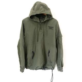 Fingercroxx Army Green Wind Breaker