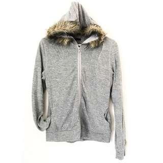 Knitted Fur Hoodie