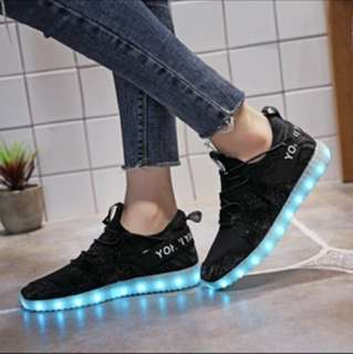 LED Multicolor Sneakers Sz 40