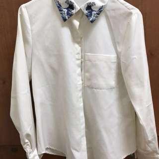 🚚 日本🇯🇵浮世繪 海浪 白襯衫