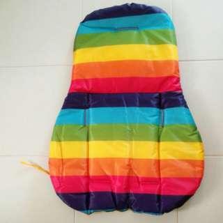 rainbow stroller pad