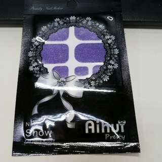 包郵💅迷人紫色指甲貼 Nail Wrap Shiny Purple