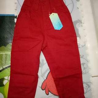 Celana unisex baby red