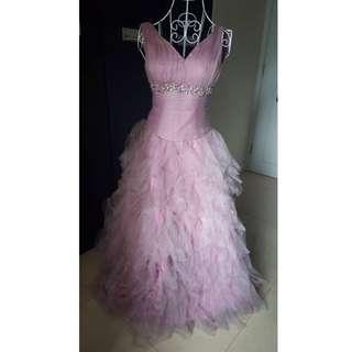 Pink Wedding Evening Gown