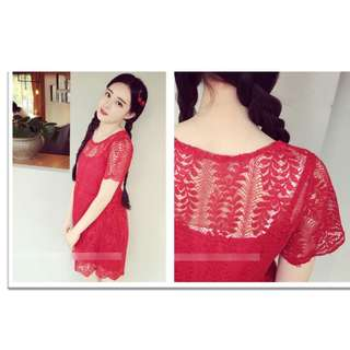 Lace Dress (Red) For Sale!! :))