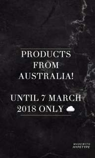 PRODUCTS FROM AUSTRALIA!