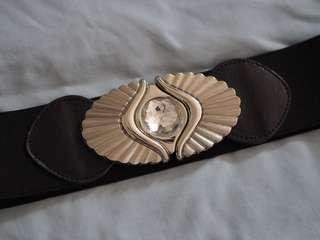 Vintage elastic waist belt